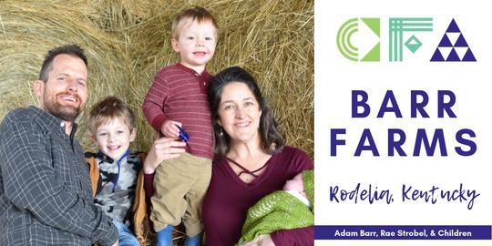 Adam Barr, Rae Strobel and their children