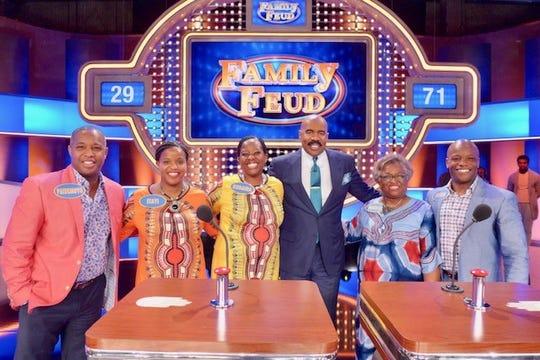 The Charasika family on Family Feud