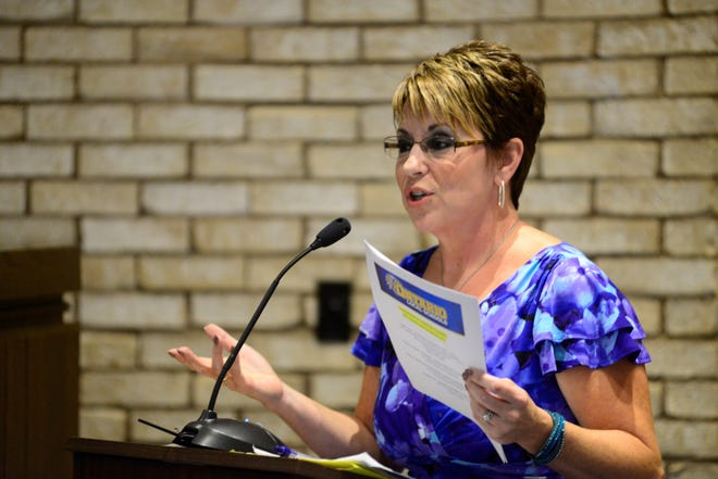 Lisa Carmichael, superintendent of Ontario Local School District, urged Ontario City Council Wednesday to pass a levy in support of the district's upcoming levy.