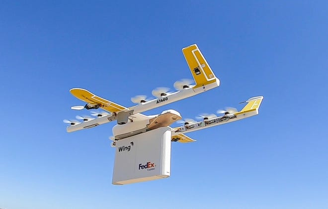 Memphis-based FedEx Express has launched a drone delivery pilot program in Christiansburg, Va., with Walgreens and Alphabet company Wing Aviation.