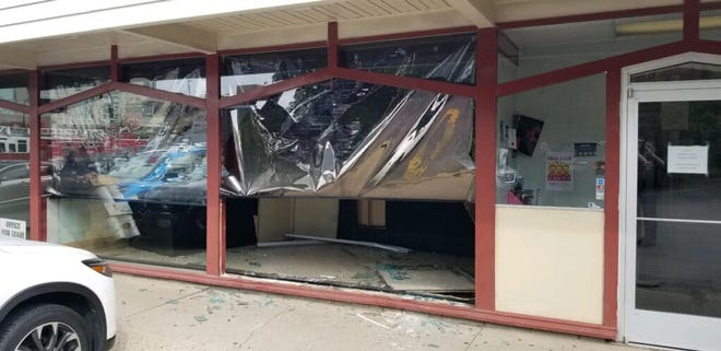 A car crashed into the window of Benji's Deli around 10 a.m. Thursday, Sept. 19.
