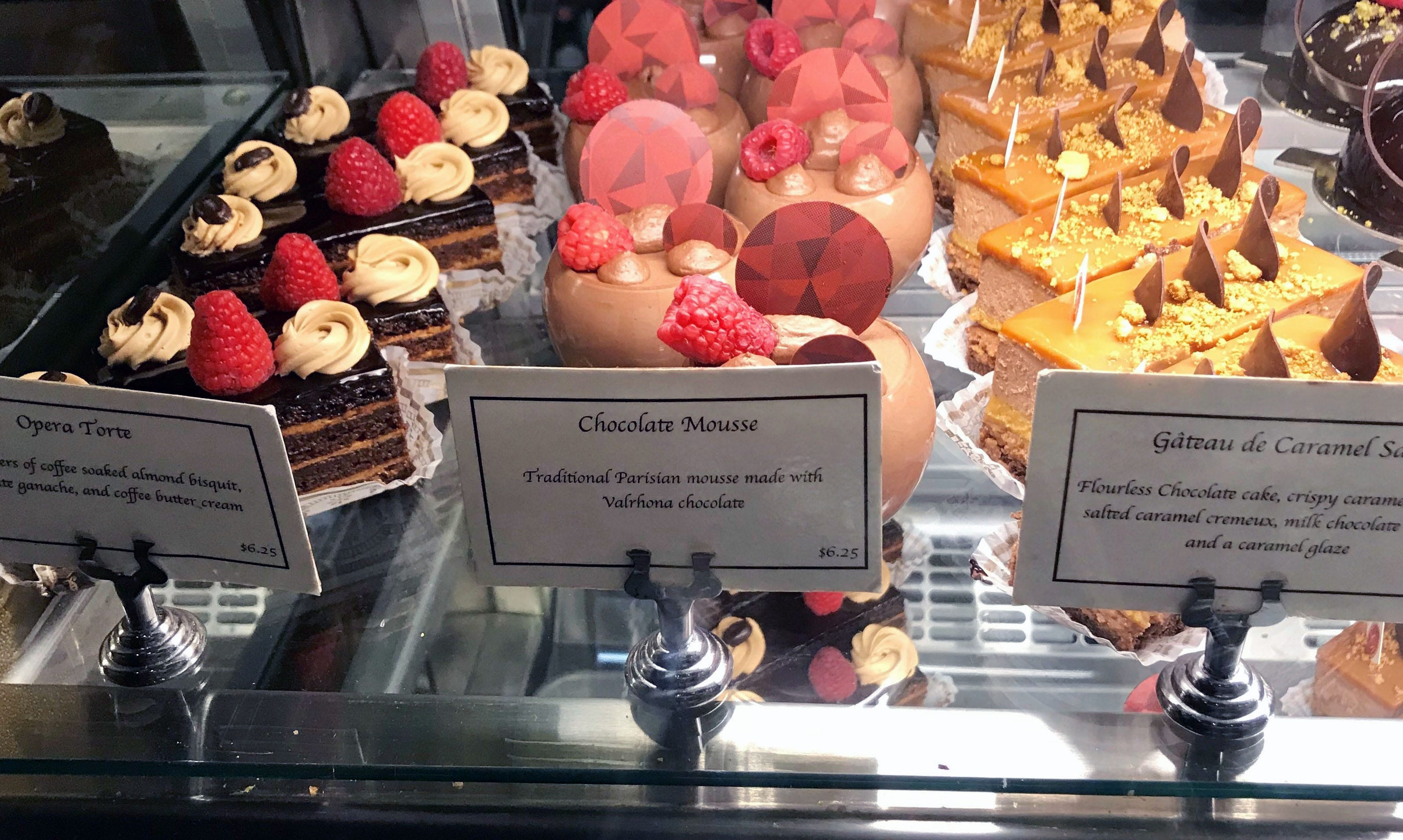 Customers can browse the pastry case at Le Reve Patisserie & Café in Wauwatosa for dessert.