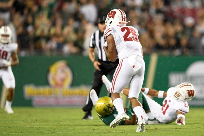 Safety Eric Burrell, who has one of the three interceptions by the Badgers this season, says UW's secondary is ready to prove itself against the deep and talented receiving corps of Michigan on Saturday.