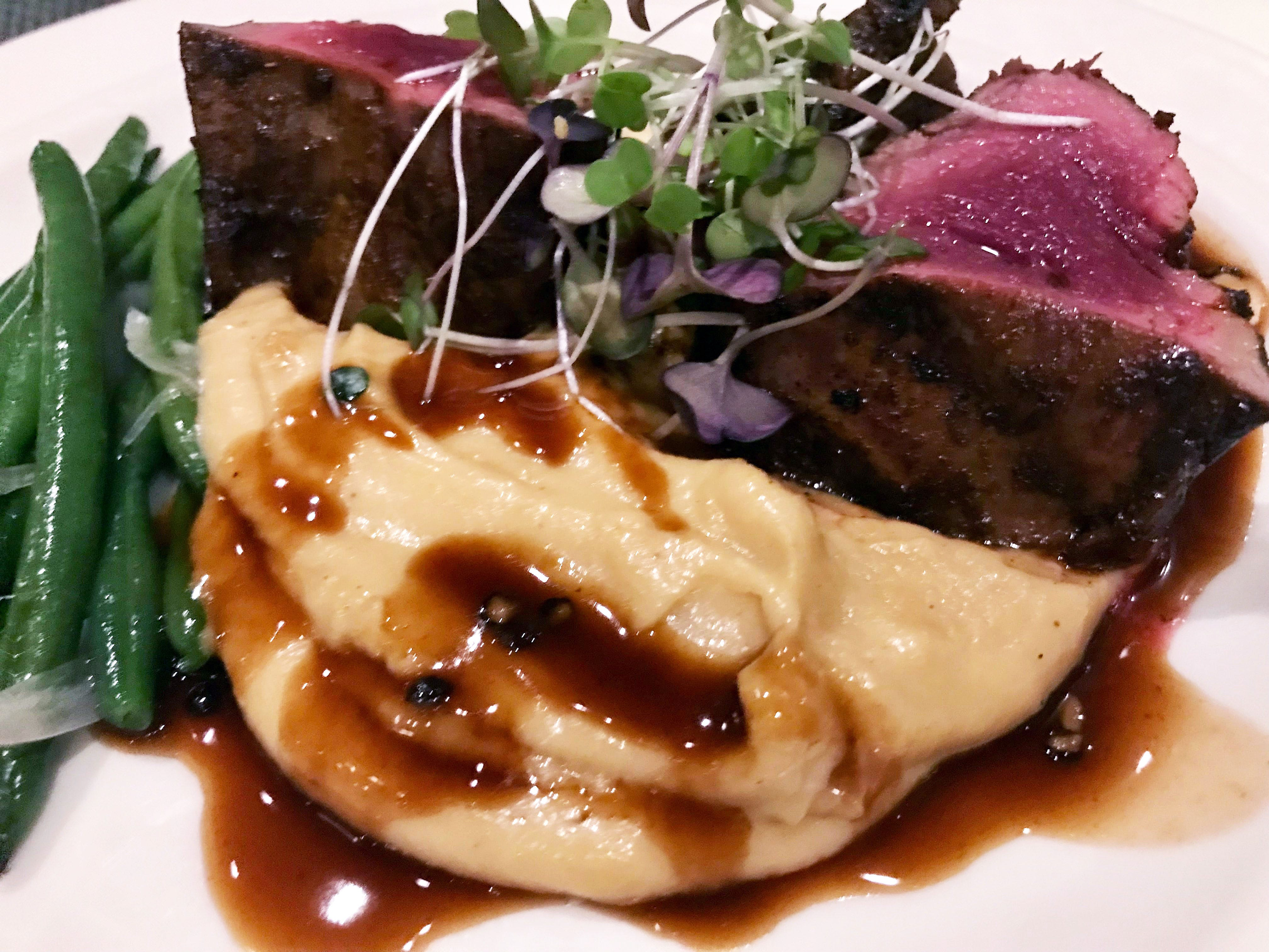 The Union House in Genesee Depot often has game on the menu, such as this venison with parsnip puree.