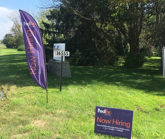 Roadside signs about job openings, like these signs in New Berlin, are increasingly common as demand for more workers increases.