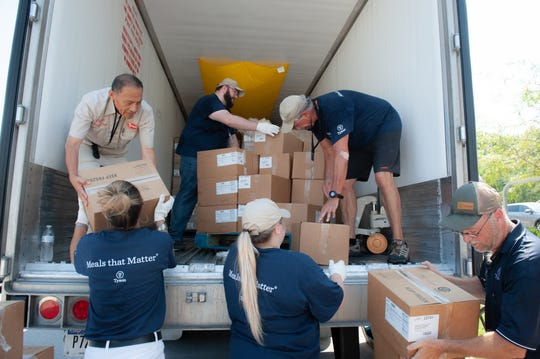 Tyson Foods announced Thursday a donation of almost 170,000 pounds or nearly 700,000 mealsfor Feeding America food banks and their partner agencies throughout Arkansas in honor of Hunger Action Month.