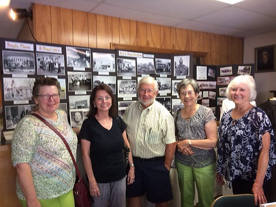 """The local chapter of the United Daughters of the Confederacy was treated with a tour of the Baxter County Heritage Center, located at 808 Baker Street. David Benedict, President, of the Baxter County Historical Society led the tour.Benedict gave a presentation called """"History's Happening"""" at one of their meetings, thus enticing them to come and take a step into the history of Mountain Home."""