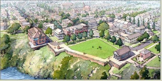 This artist's rendering from a 2011 city document shows plans for Powder Magazine Park.