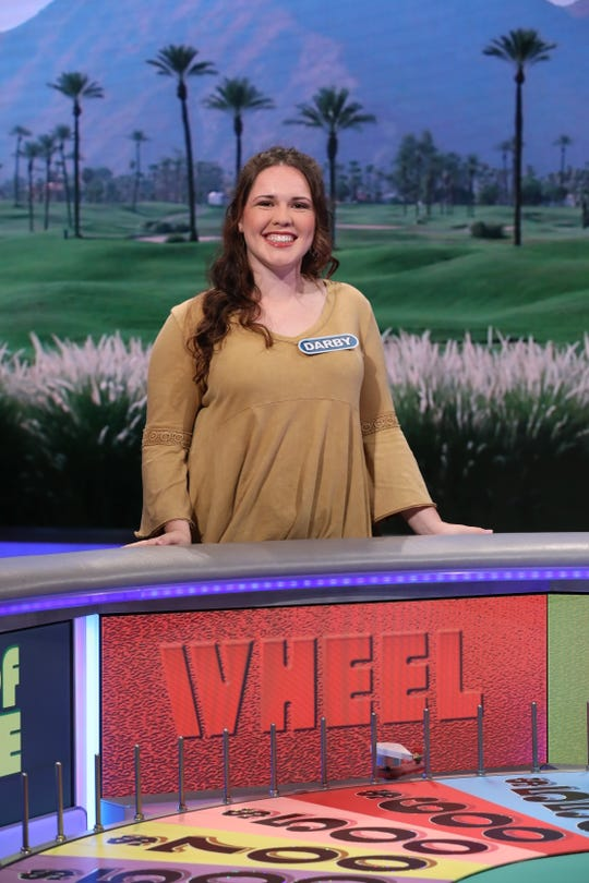 Darby McCarthy, 24, of Murfreesboro wore her lucky color yellow to compete on Wheel of Fortune this summer. See how much she won at 6:30 p.m. on Sept. 26 on WKRN.