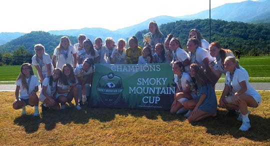Fairview's Lady Jackets soccer team won their district championship at the Smoky Mountain Cup in Gatlinburg Sept. 15, 2019.