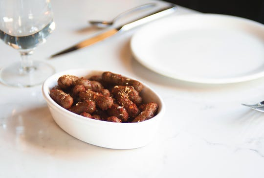 Boiled Peanuts with Kashmiri Chile, Coriander and Lime from Tailor.