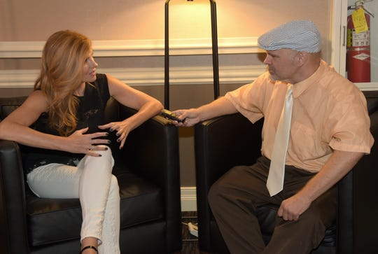 Chuck Dauphin of Billboard interviews Nashville star Connie Britton  in Brentwood in August in 2014. (Photo by Rick Diamond/Getty Images for Four Points By Sheraton)