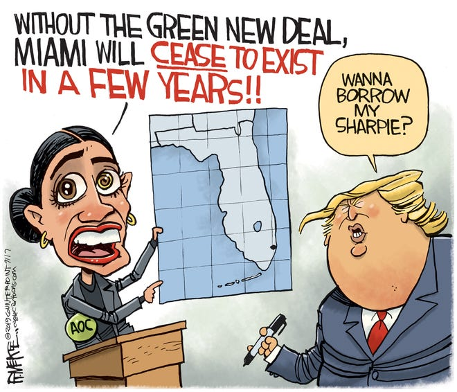 AOC and Trump on climate.