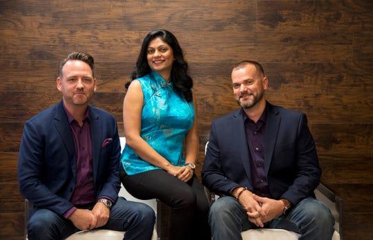 Matt Bernhardt , Reema Bhatia and Josh Zachritz of Stickboy Creative are bringing AI-powered solutions to local and national companies.