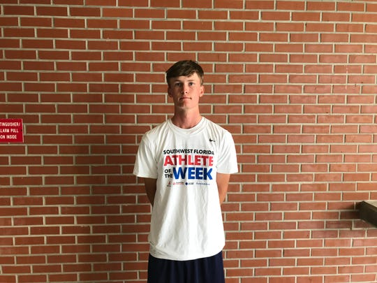 Naples High senior golfer James Tureskis was selected as the Naples Daily News Athlete of the Week for the week of Sept. 9-14. Tureskis, who captured individual medalist honors and led Naples to the team title at the St. John Neumann Invitational, received a commanding 41 percent of the vote. Barron Collier quarterback Jason Grimes finished second with 17.9 percent.