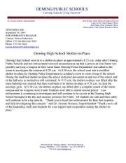 Deming Public Schools press release.