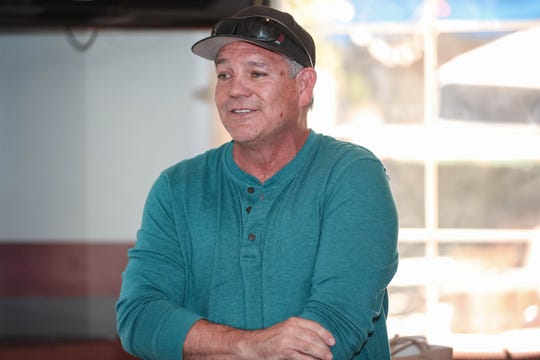 Louie Burke speaks at the announcement of a local fight card at The Game Sports Bar and Grill in Las Cruces on Thursday, Sept 19, 2019.