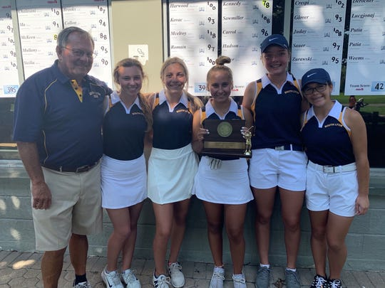 The South Lyon girls golf team won the Oakland County tournament on Wednesday.