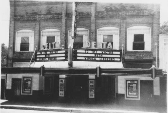 Delta Theater soon after it opened in 1934.
