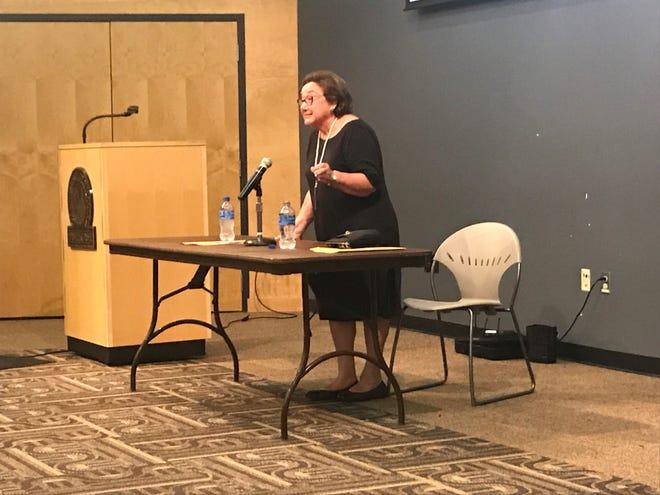 Holocaust survivor Eva Zaret speaks about her experiences at UWO and preaches peace.