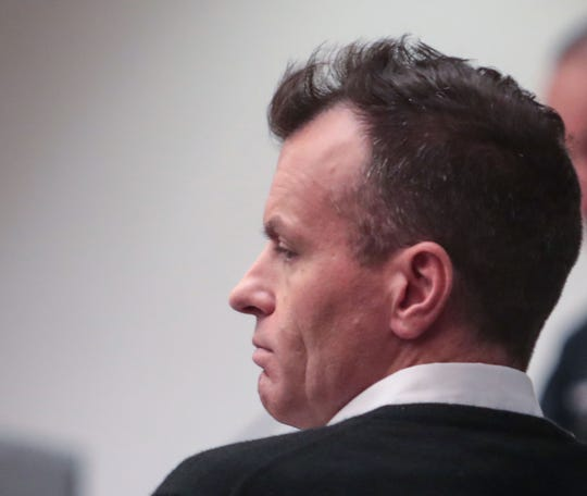 Randy Miller attends his preliminary hearing at the Larson Justice Center in Indio, Calif., September 19, 2019.  Miller is accused of hitting a pedestrian with his car and driving with the victim on the roof for two miles.