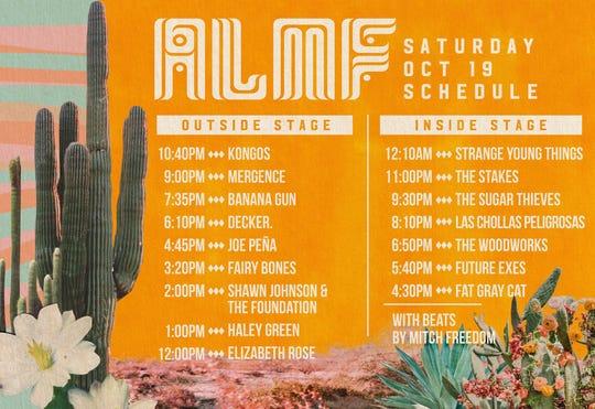 Apache Lake Music Festival Saturday schedule
