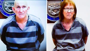Blane Barksdale and Susan Barksdale are seen during their video arraignment on Sept. 19, 2019, in Pima County Superior Court in Tucson. The Barksdales, wanted in connection with a homicide in Tucson, had escaped custody during transport back to Tucson. They were recaptured on Sept. 11.