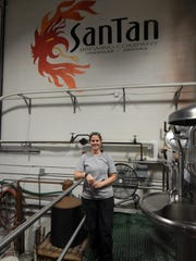 Kristin Luparello works at both the Chandler cellaring location and SanTan's uptown brewery to make SanTan beer.