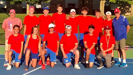 The St. Clair boys tennis team took home the Macomb Area Conference-Red championship after besting Port Huron Northern on Wednesday.