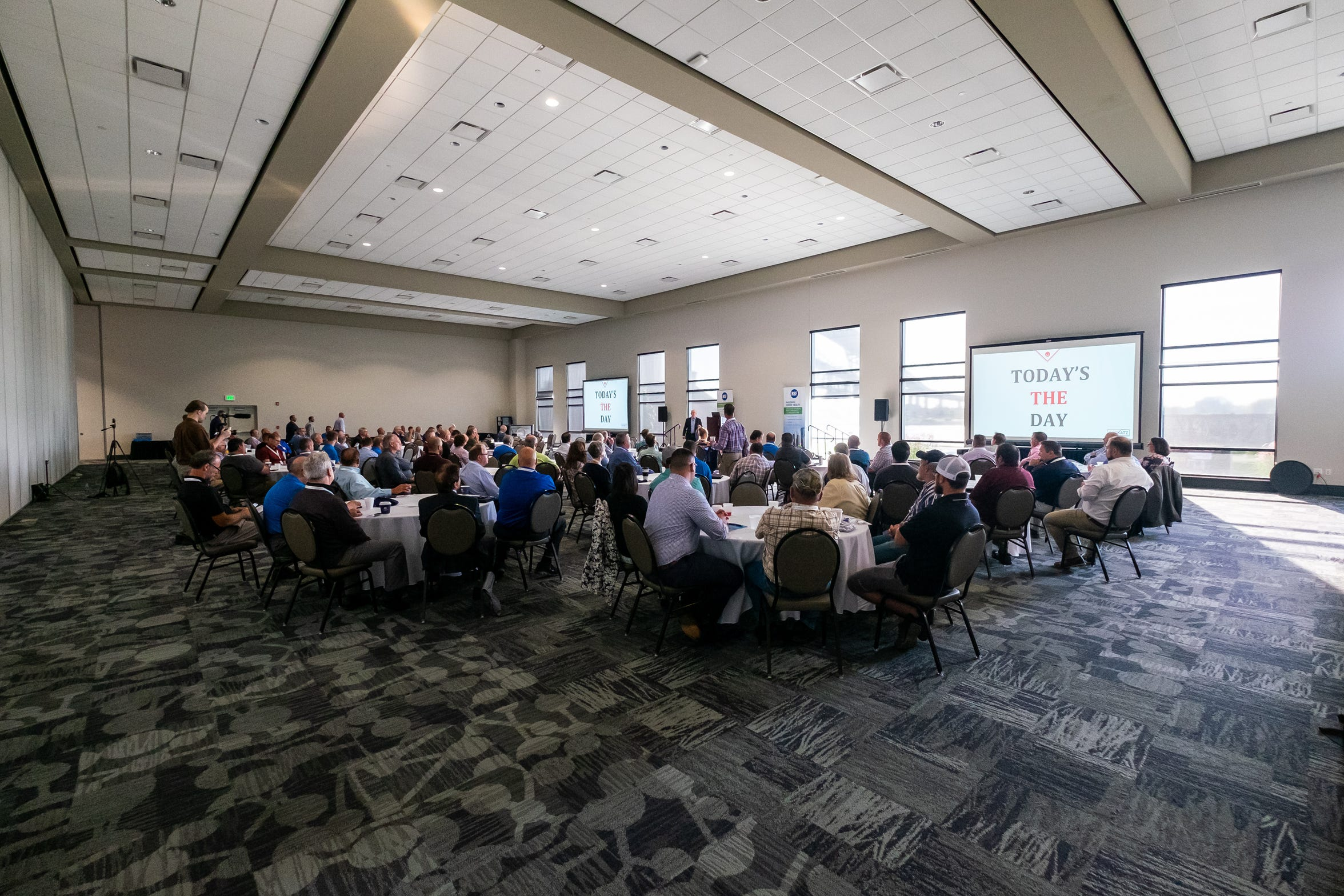 Entrepreneur and professional speaker Red Katz delivers a keynote address Thursday, Sept. 19, 2019, during the annual Michigan Society for Healthcare Engineering conference at the Blue Water Convention Center.