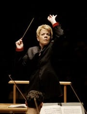 Marin Alsop, conductor of the Balitmore Symphony Orchestra, will speak Tuesday at York College.