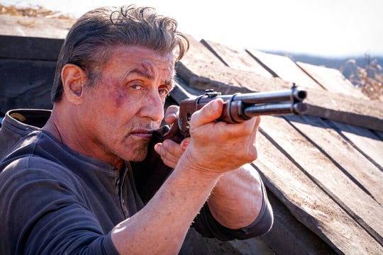 """Sylvester Stallone stars in """"Rambo: Last Blood."""" The movie is playing at Regal West Manchester, Frank Theatres Queensgagte Stadium 13 and R/C Hanover Movies."""