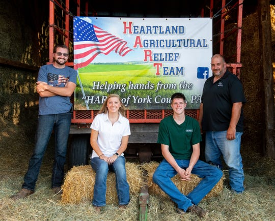 From left, Adam Gockley, Lydia Massa, Kieran Buser and John Culp are key members of the Heartland Agricultural Relief Team.