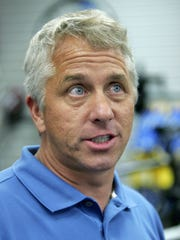 Greg LeMond, three-time winner of the Tour de France bicycle race, takes a break from signing autographs at a bicycle shop to speak with reporters about the doping allegations against Floyd Landis, , Aug. 3, 2006, in Newton, Mass.