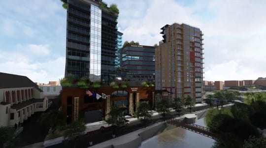 Las Vegas-based CAI Investments' proposed 20-story luxury hotel in downtown Reno.