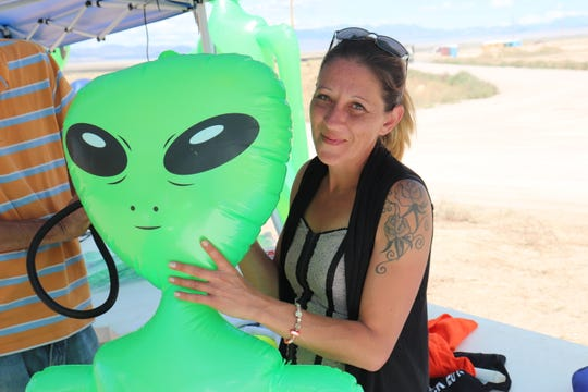 "Campers from all over the country trickled into the tiny Extraterrestrial Highway town of Rachel Thursday to attend Alienstock – a music festival that spawned from the viral space oddity known as ""Storm Area 51."""