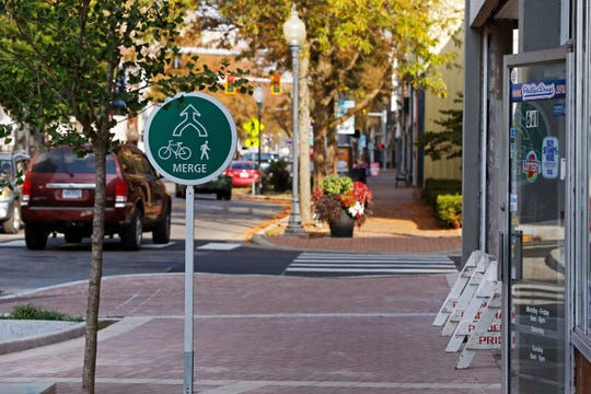 New bike paths along portions of East Main, Seventh and 10th streets have been part of a transformation of downtown Richmond in the 2010s.