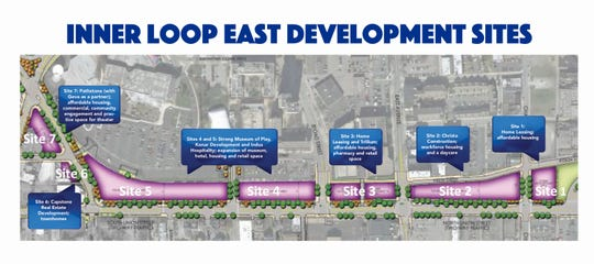 Seven development sites make up the Eastern Inner Loop development.