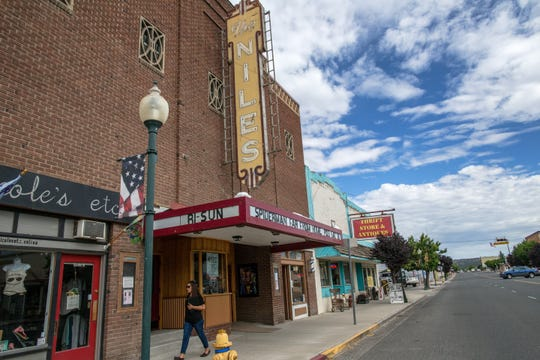 A view of Main Street in downtown Alturas and the Niles movie theater on Tuesday, Aug. 6, 2019.