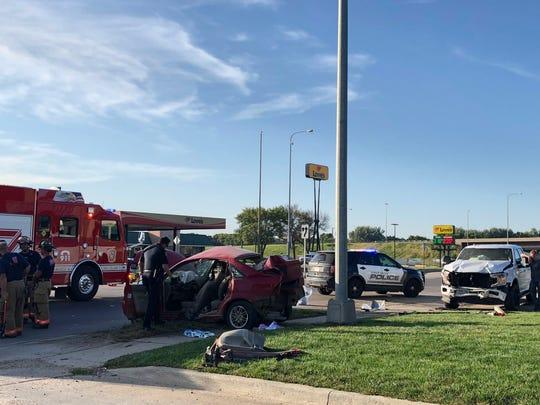 A car crash shut down part of North Cliff Avenue on Thursday evening.