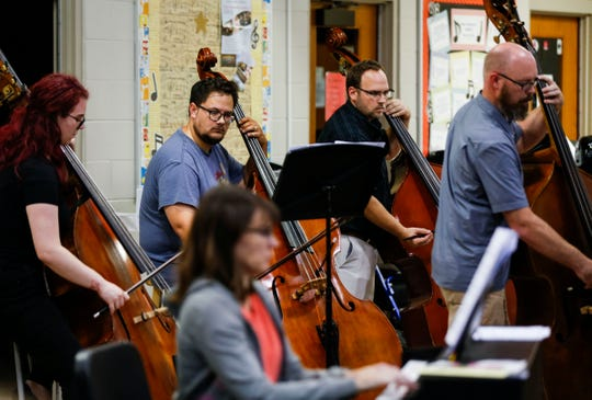 The Springfield Symphony Orchestra rehearses at Central High School on Tuesday, Sept. 17, 2019.