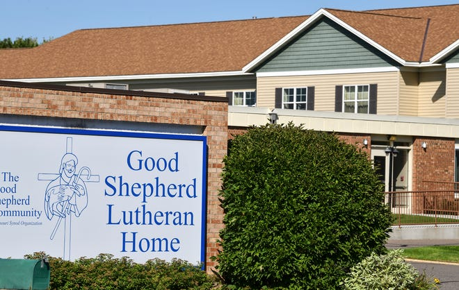 A sign at the main entrance to Good Shepherd Lutheran Home is pictured Thursday, Sept. 19, 2019, in Sauk Rapids.