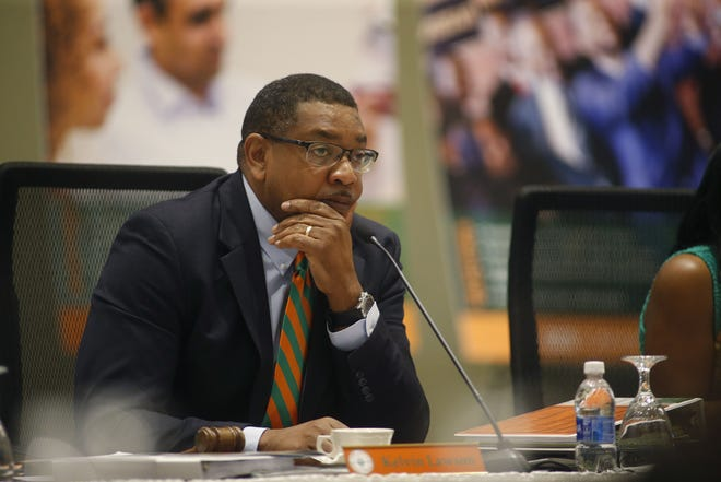 Kelvin Lawson was re-elected chairman of the FAMU Board of Trustees on Sept. 19, 2019.