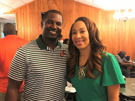 FAMU football head coach Willie Simmons was on hand to honor ESPN commentator Tiffany Greene at the 220 Quarterback Club meeting on Wednesday, Sept. 18, 2019.