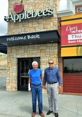 Kirk Robison, left, and John Hjalmquist, leaders of a group that bought the eight Applebee's Neighorhood Bar and Grill locations in El Paso, and two in Las Cruces.