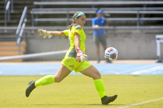 Americas graduate Rhiannon Conelley has developed into a solid college goalkeeper for the University of North Florida in Jacksonville, Fla.