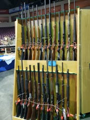 Photo from the Crossroads of the West gun show at the Ventura County Fairgrounds. The Star could not independently verify when the photo was taken.