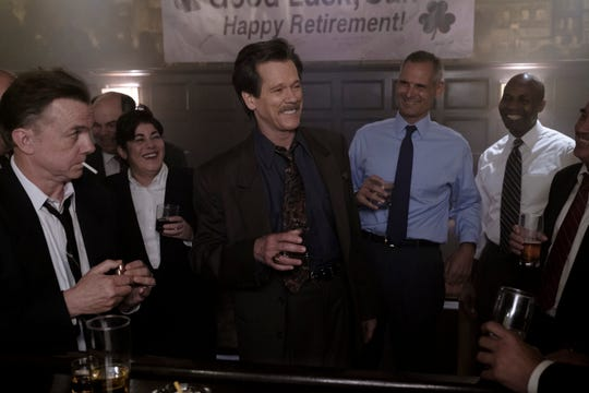 "(L-R): Michael O'Keefe as Salvy Clasby and Kevin Bacon as Jackie Rohr in ""City on A Hill,"" from the episode  ""Mayor Curley and the Last Hurrah""."
