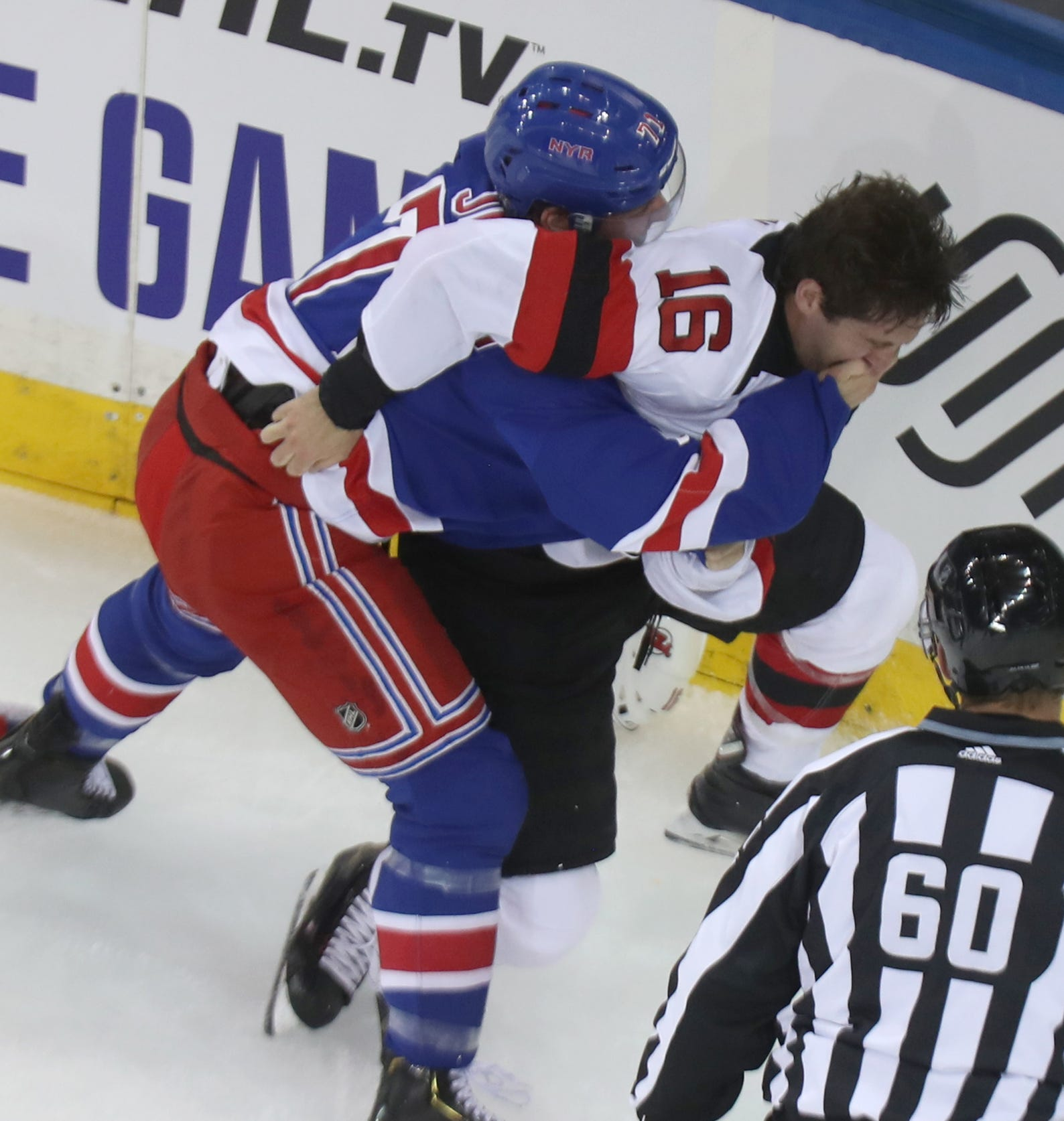 release date: 563e8 9982c Devils beat the Rangers in preseason hockey at MSG