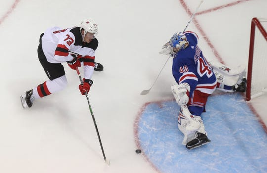The Devils beat the Rangers 4-3 in a preseason game at Madison Square Garden Sept. 18, 2019.